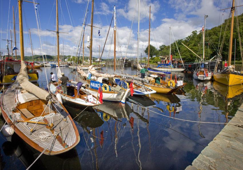 0I5D8798 Crinan Harbour Classic Boats Scotland