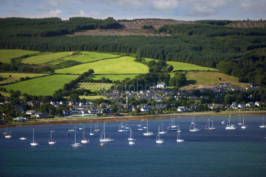Yachts Anchored In Lamlash Bay