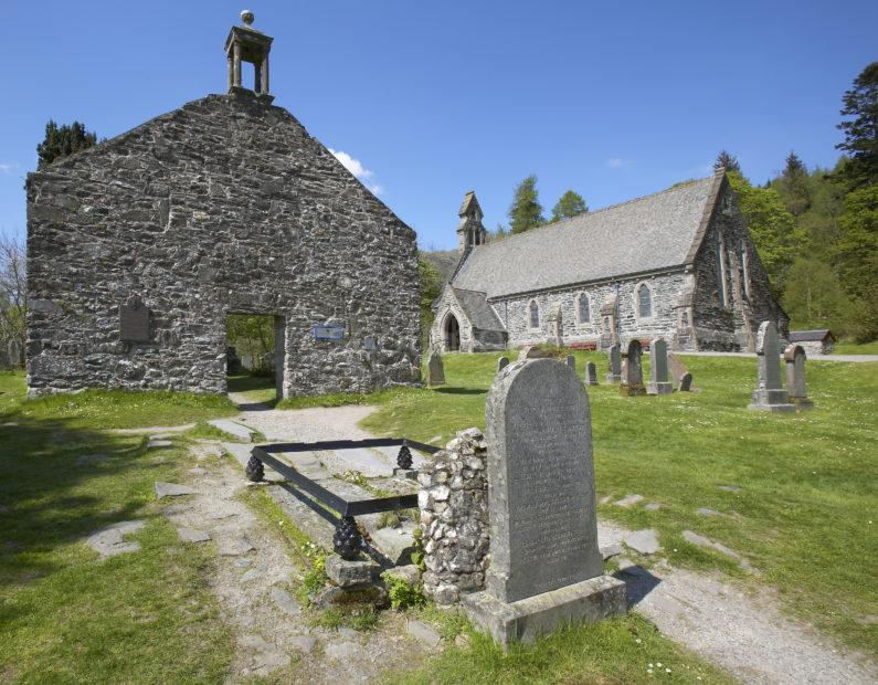 Rob Roys Grave And Old Kirk At Balquidder Perthshire
