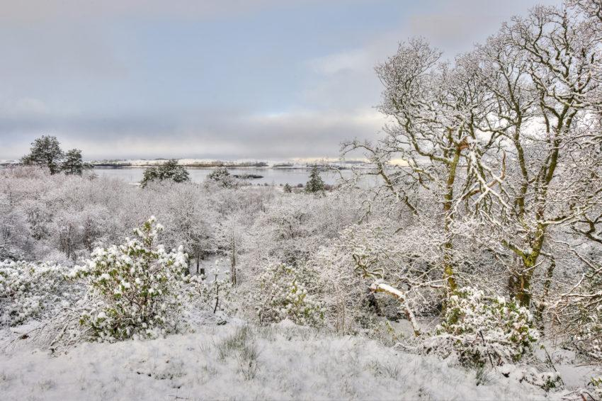 WINTER VIEW FROM ERISKA TO MORVEN FIRTH OF LORNE