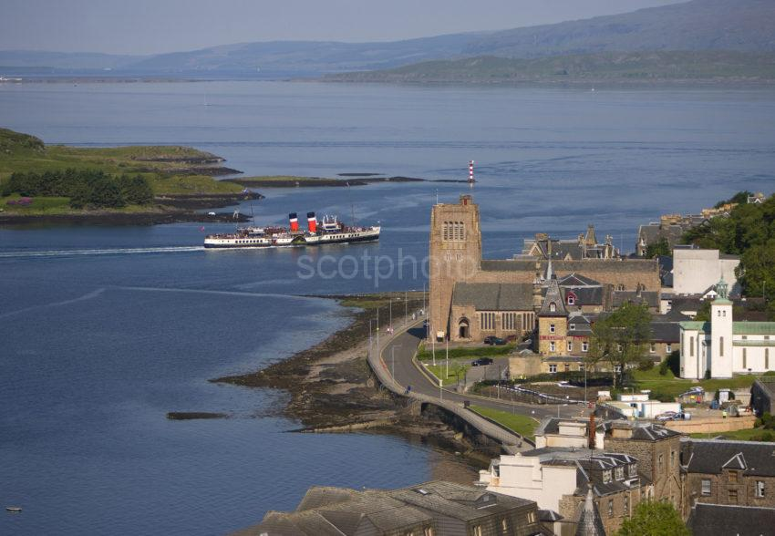 Waverley Passes Cathedral And Tip Of Kerrera