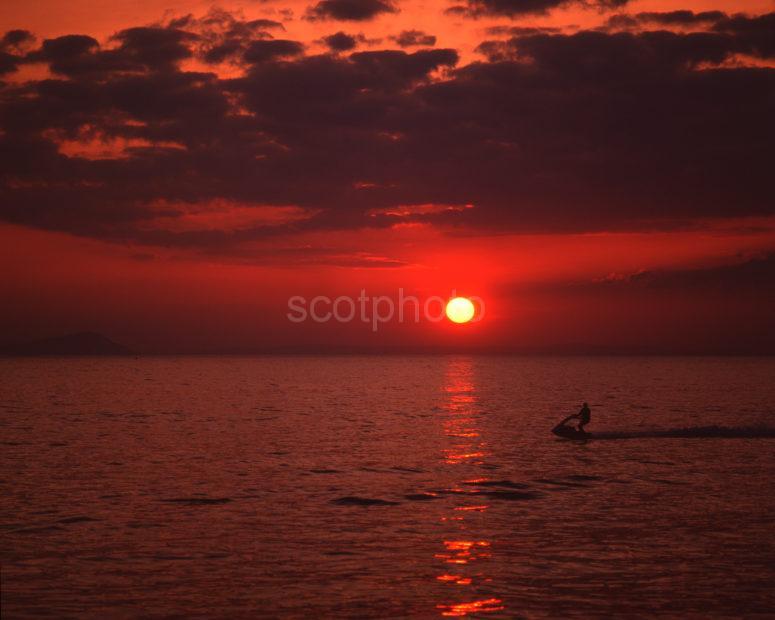 Beautiful Sunset Off The Coast Of Ayrshire Near Prestwick