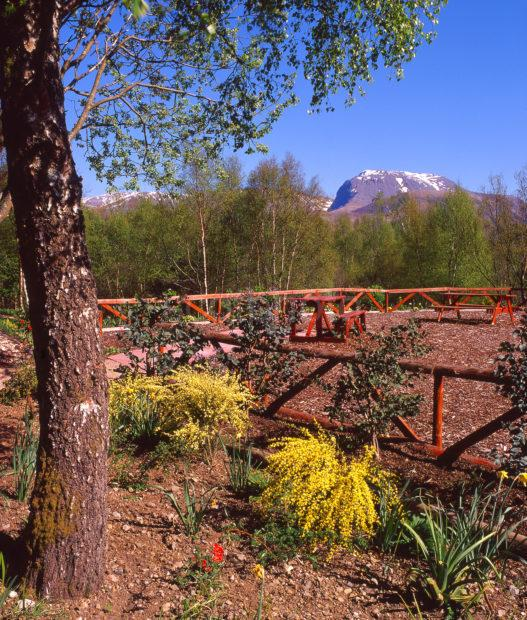 View Towards Ben Nevis As Seen From Kilmallie Gardens Corpach Fort William Lochaber