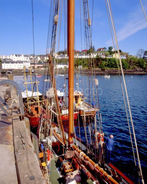 Busy Scene In Portree Harbour Island Of Skye