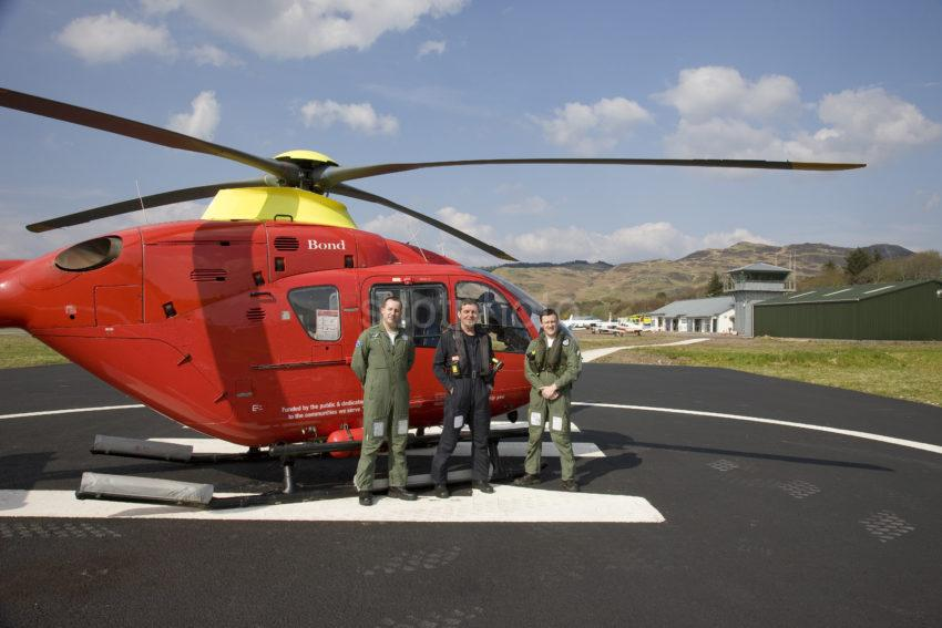 I5D2810 Helicopter Operating Air Ambulance At Oban Airport Connel