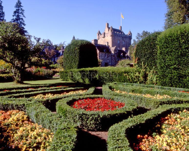 Cawdor Castle From Gardens Nairnshire Moray Firth
