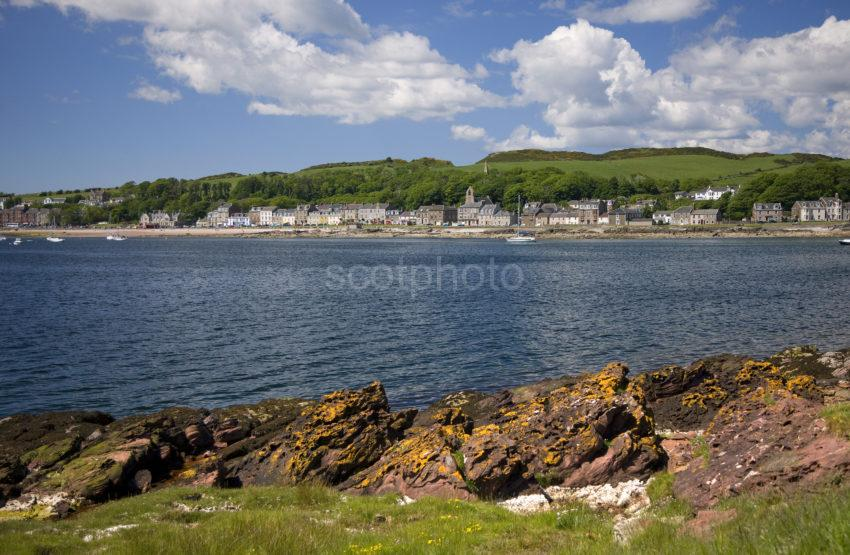 Towards Millport From Rocky Shore Isle Of Cumbrae