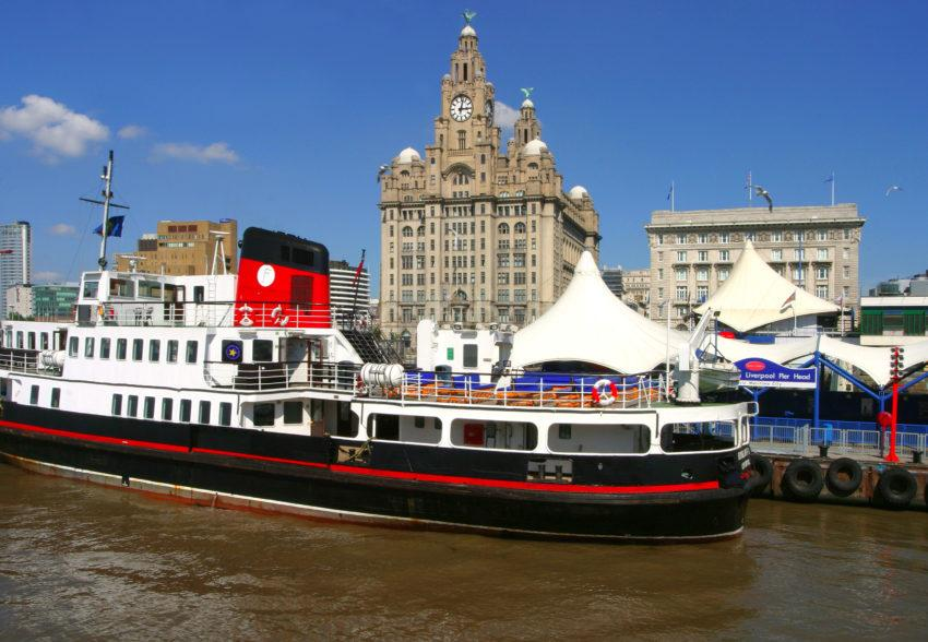 7126 Ferry At Pier Head With Liver Building