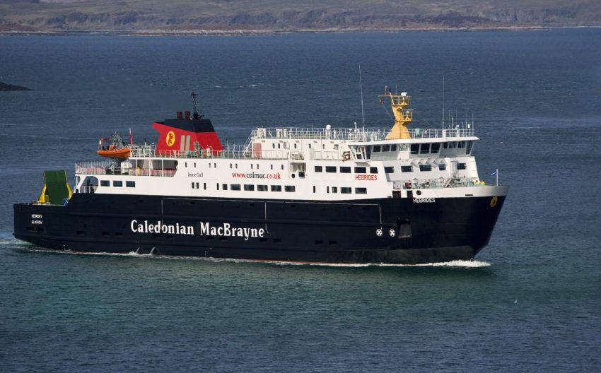 WY3Q3322 MV Hebrides At Sea