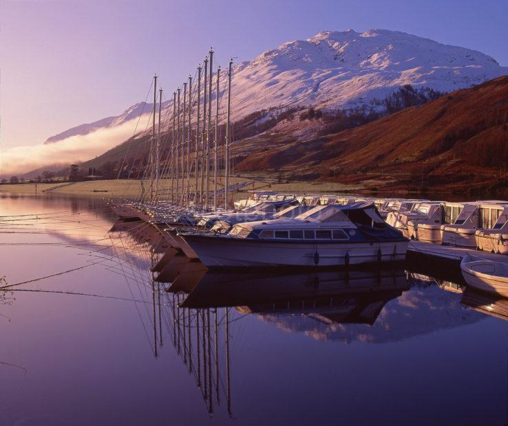 Beautiful Winter Reflections At The North East End Of Loch Lochy Near Laggan Locks Great Glen West Highlands