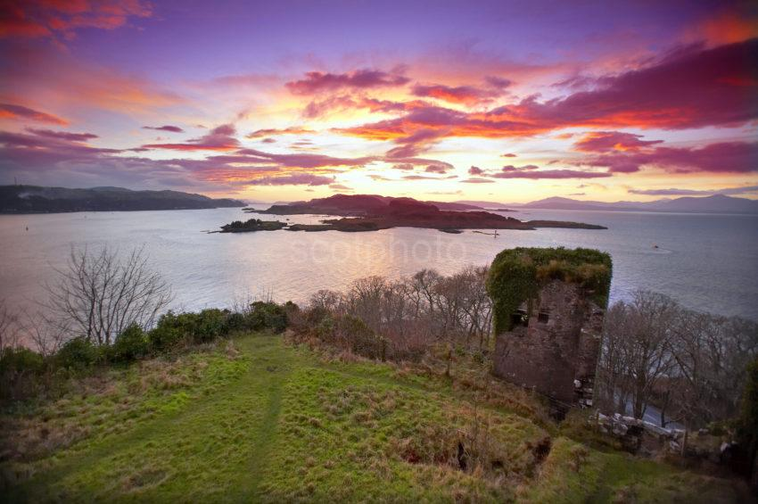 Beautiful Sunset Dunollie Castle