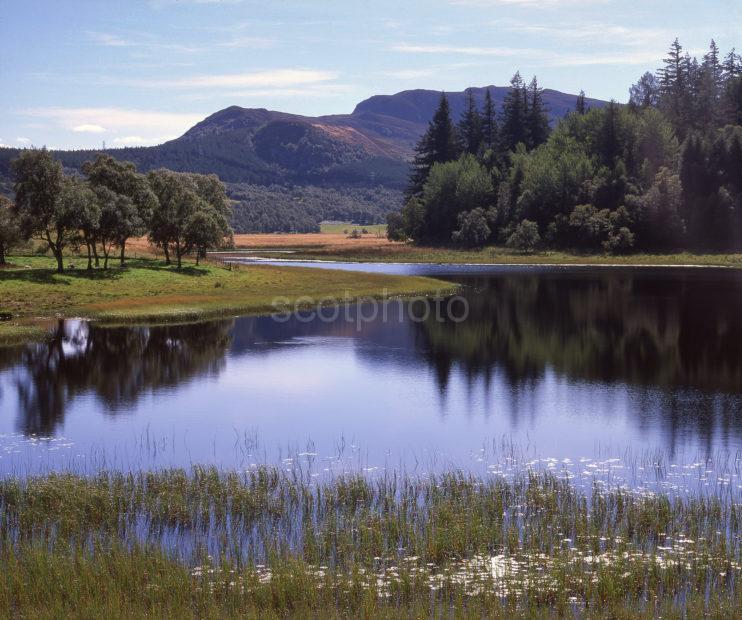 Peaceful Scene On Loch Ovie Badenoch Central Highlands