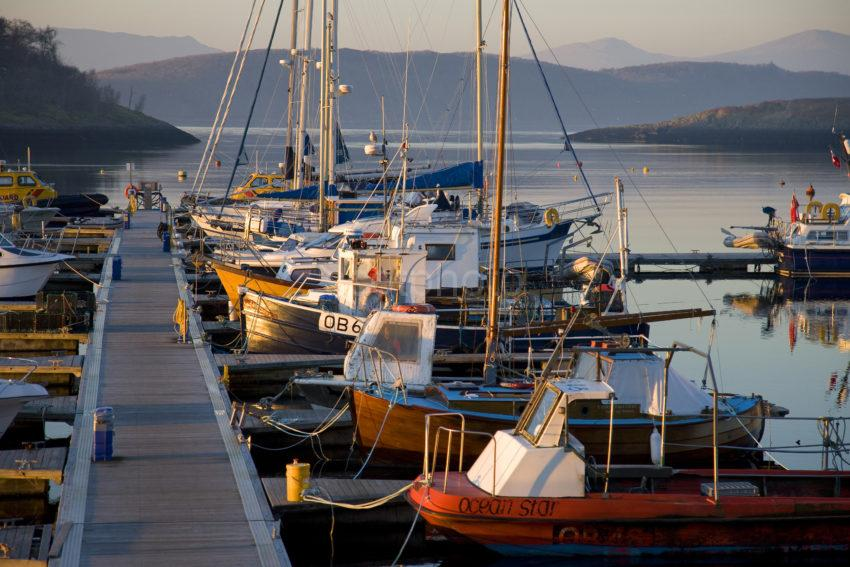 Cluster Of Boats At Dunstaffnage Marina Argyll