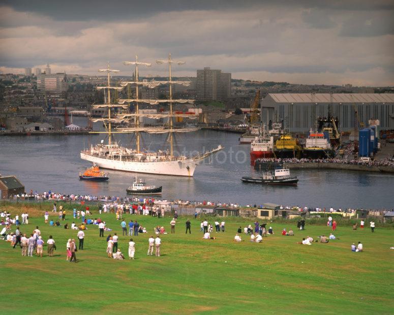 Tall Ships Depart Aberdeen Harbour