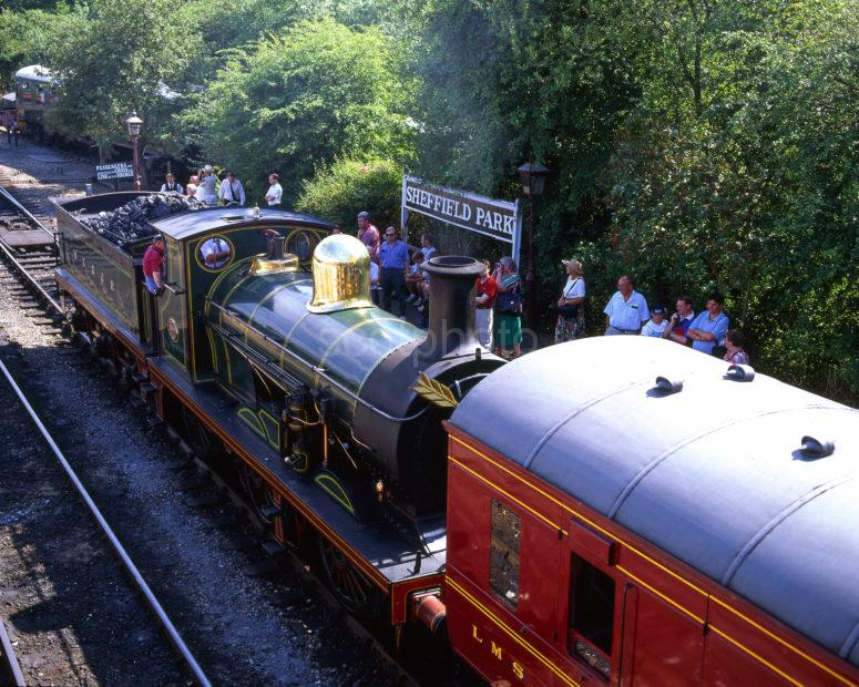 Steam Loco At Sheffield Park Station