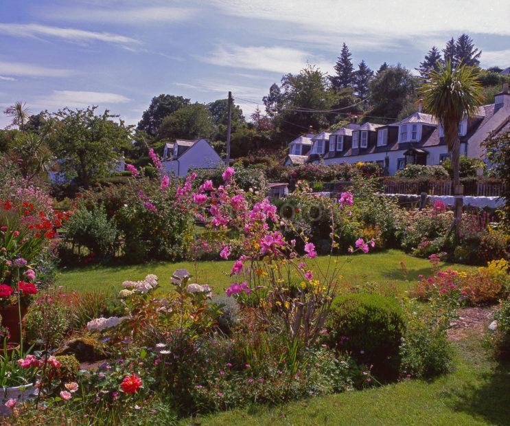 Summer Scene In The Picturesque Village Of Corrie Isle Of Arran