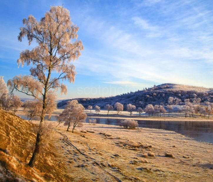 Winter Over Lochan Ovie Newtonmore