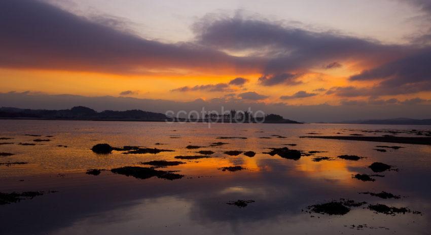 Winter Sunset Over Ardentinney From Eriska