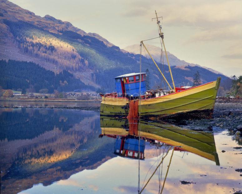 Fishing Boat Aground On Loch Long
