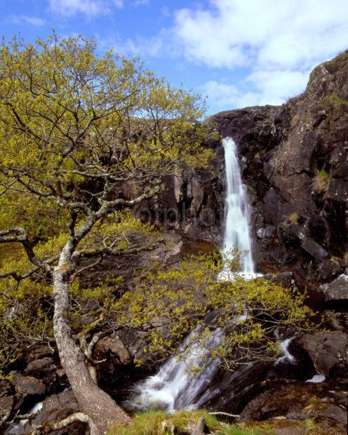 Stunning Waterfall NW Coast Of Mull Overlooking Loch Tuath Isle Of Mull
