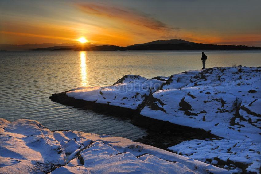 Winter Sunset Over Loch Melfort From The Loch Melfort Hotel