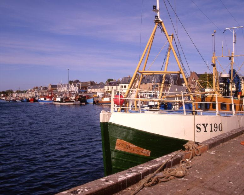 Stornoway Harbour From Pier Island Of Lewis Outer Hebrides