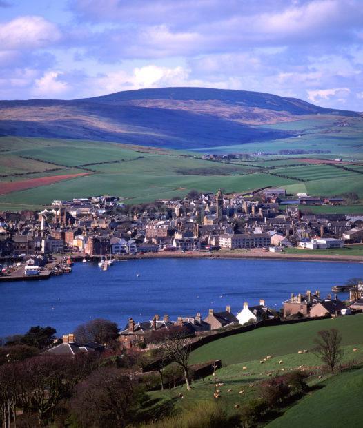 Towards Campbeltown And Harbour Kintyre Peninsula Argyll