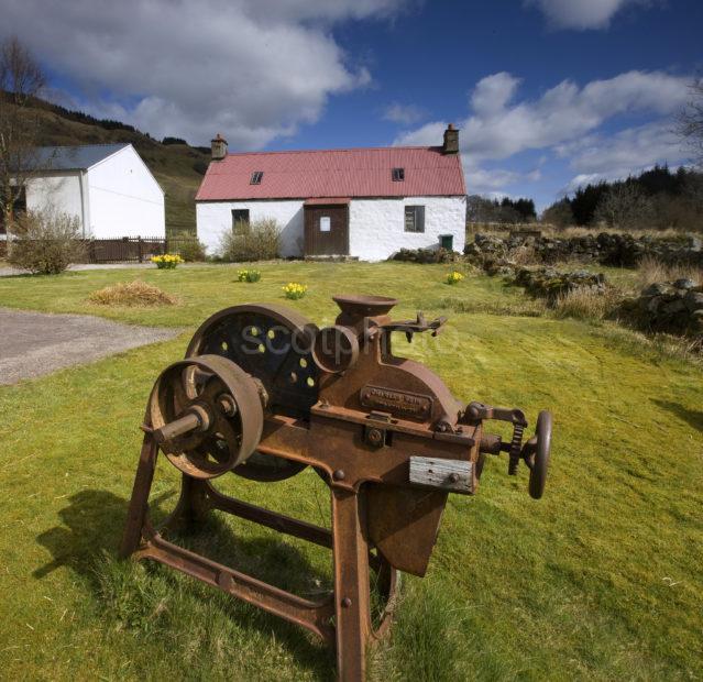0I5D8324 Croft At Auchindrain Historic Farming Village Nr Furnace Argyll