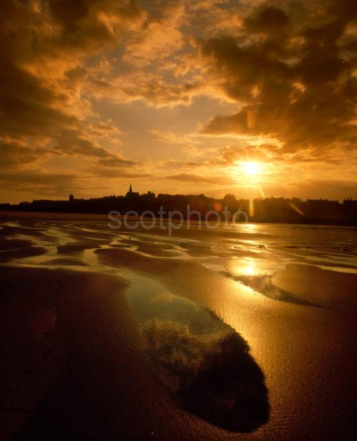 Lossiemouth Sunset From East Beach Lossiemouth Morayshire