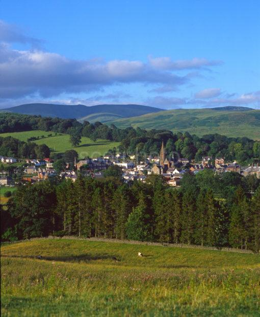View Looking Towards The Borders Town Of Moffat Dumfriesshire