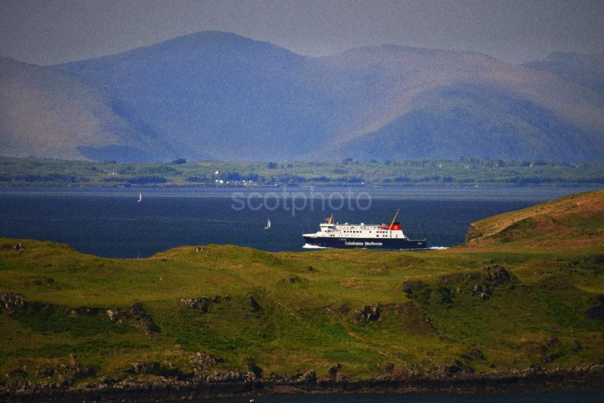 After Departing Oban Finlaggan Speeds On The Opposite Side Of Kerrera
