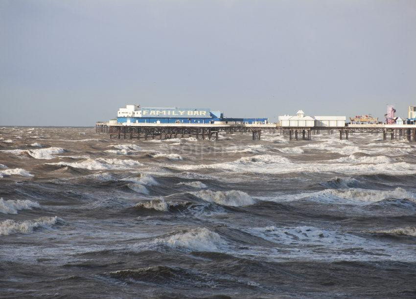 Rough Weather Blackpool Pier