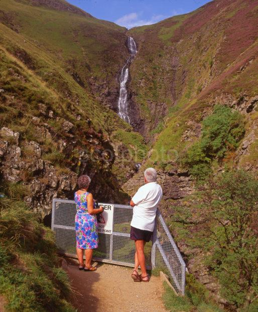 The Grey Mares Tail Waterfall Near Moffat Scottish Borders