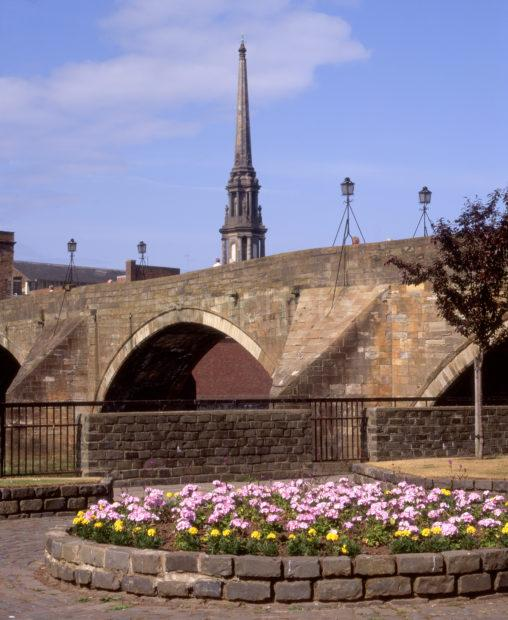 The Old Bridge Across River Ayr Town Centre