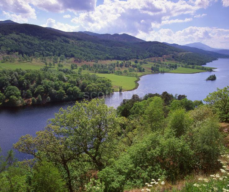 Springtime View Overlooking Loch Tummel As Seen From Queens View Perthshire
