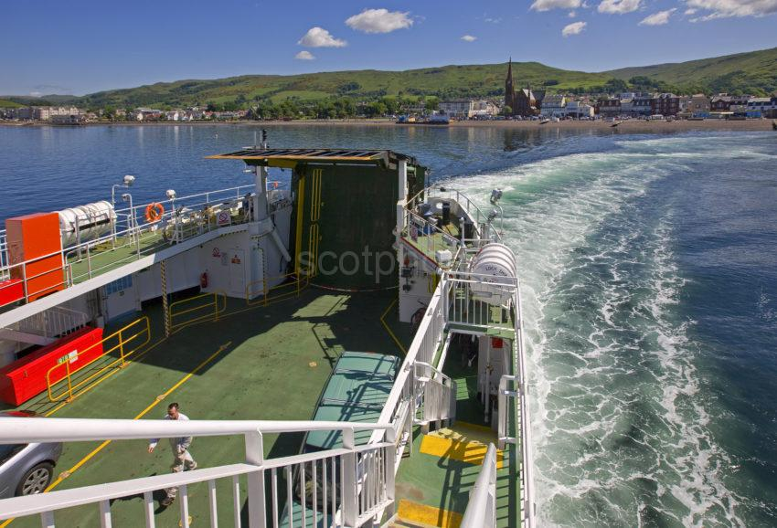 Ferry Crossing From Largs To Cumbrae Isle