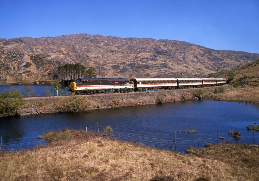 The West Highlander Train Hauled By Dedicated Class 37
