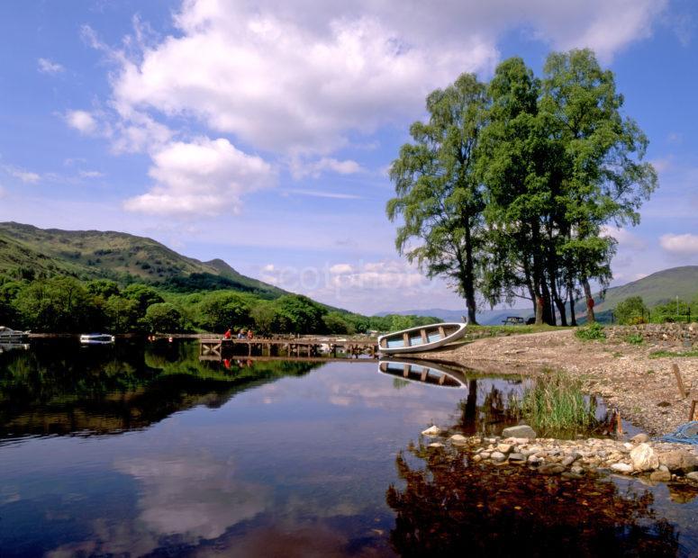 Summer Scene From St Fillans Towards Loch Earn Perthshire