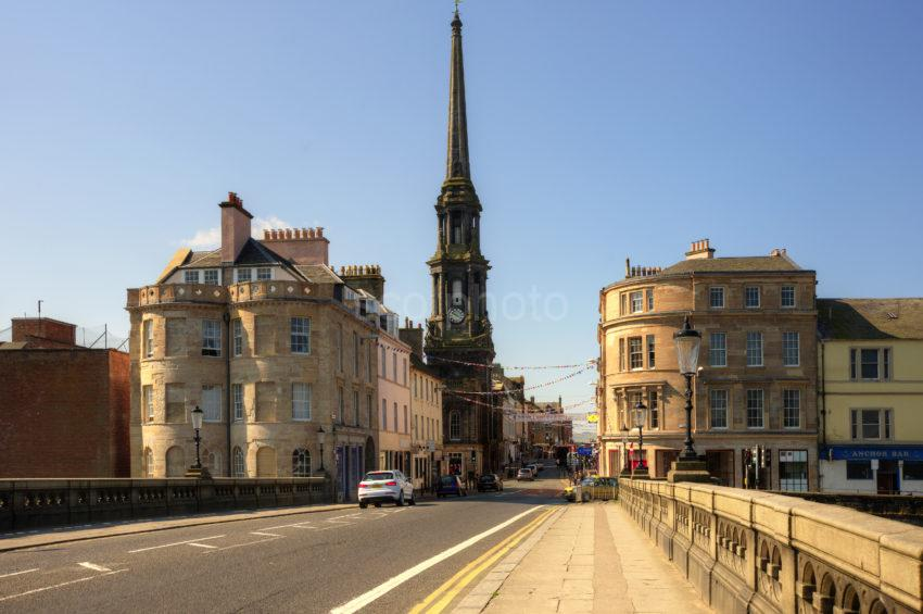 AYR TOWN CENTRE FROM BRIDGE
