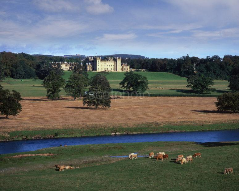 River Tweed And Floors Castle 1720 William Adam Nr Kelso Scottish Borders