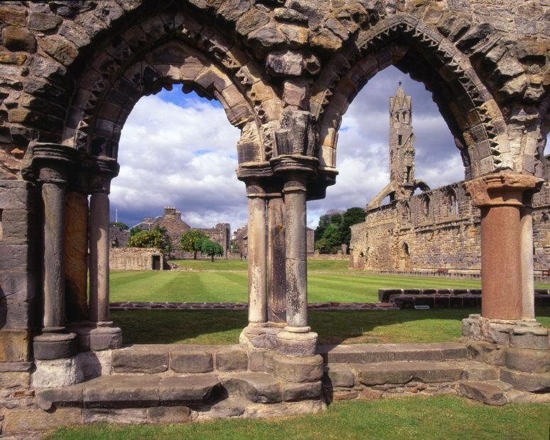The West Gable From Archways St Andrews Cathedral Fife