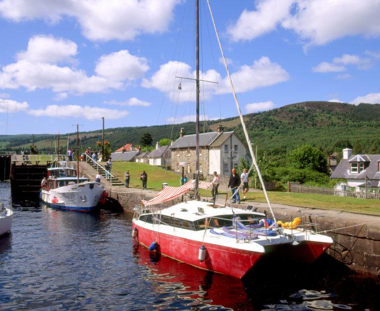 Boats On Cal Canal Fort Augustus
