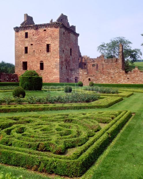 Edzell Castle From Gardens Angus