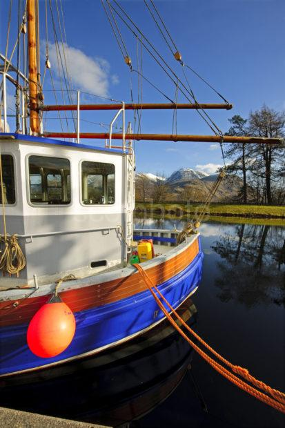Ben Nevis Fro Fishing Boat At Banavie