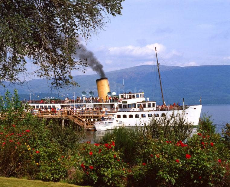 The Maid Of The Loch Paddle Steamer At Luss Loch Lomond Late 70s