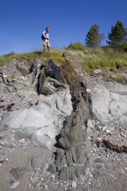 Geological Dyke Intrusion On Eriska