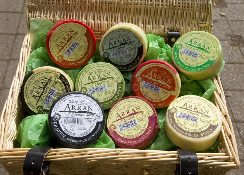 I5D0461 Selection Of Isle Of Arran Cheese Made On The Island