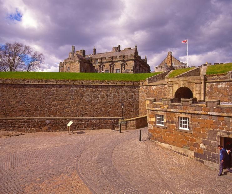 View Taken From Within The Outer Walls Of Stirling Castle Stirling Central Scotland