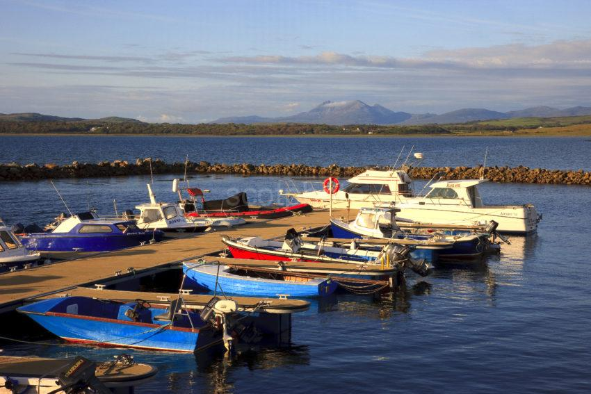 Boats On Loch Indaal Bowmore Pier Islay