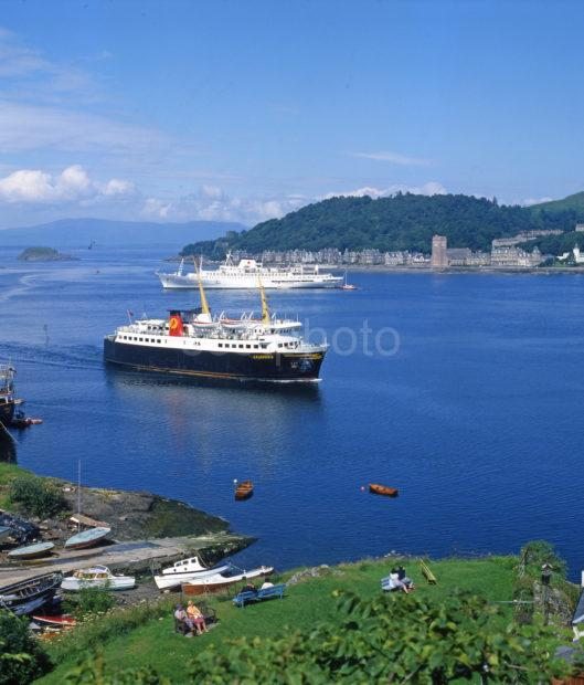 Archive Image Of The Mv Caledonia Oban 1970s